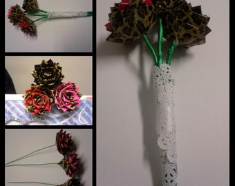 Duct Tape Roses / With Floral Wire