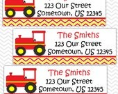 Red Tractor - Personalized Address labels, Stickers