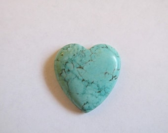 Heart Turquoise Magnesite Heart Cabochon Cabs (BAG OF 3) #ECAB-31