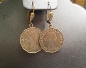 Elizabeth II Coin Earrings