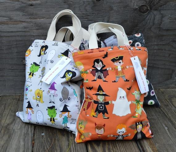 Trick or Treat Bag / Halloween Bag / Goody Bag / Kids Tote / Kids bag /