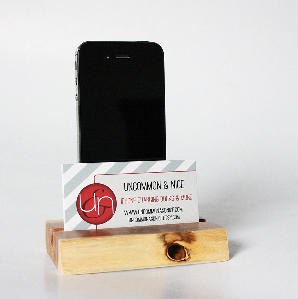 Business Card Holder Docking Station for iPhone by