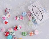 Fabric Buttons - Assortment of 35 Handmade Fabric Buttons - Ready to ship by CrochetObjet