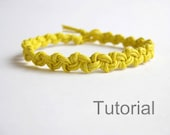 Macrame bracelet pattern tutorial pdf easy yellow how to instant download knotted step by step photo instructions jewelry diy