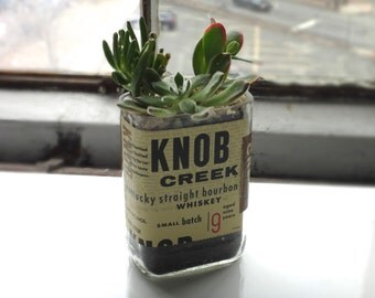 Knob Creek Whiskey Bottle Garden Succulent Planter - Bottle Only