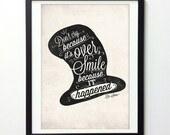 Motivational Poster, Dr.Seuss Quote Print, Hand Lettered Print, Vintage Signs, Illustration Print, Typography Print, Inspirational Print