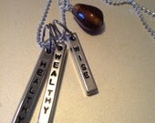 Healthy, Wealthy and Wise Bar Necklace