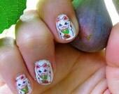 MANEKI NEKO Japanese Kitty waving hand nail decals
