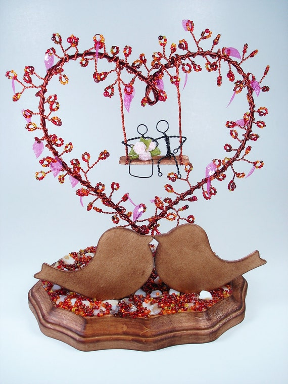 wedding cake s1 seeds wire tree with birds wedding cake topper by 23739