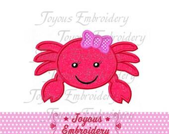 Instant Download Girl Crab Applique Machine Embroidery Design NO:1513