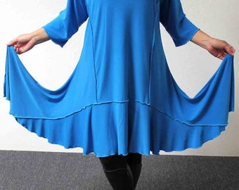 Stylish N Exclusive crazycuts long Lagenlook Plus Size and Regular size Tunic Dress. Free Shipping Limited Time