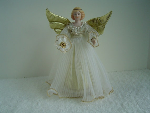 Vintage Christmas Angel Doll Tree Topper By