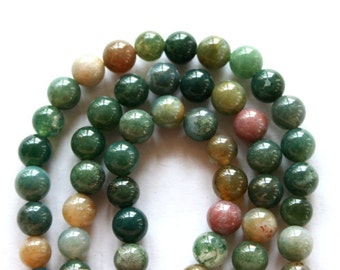 6 mm Blood Agate Semi Precious Gemstone Beads
