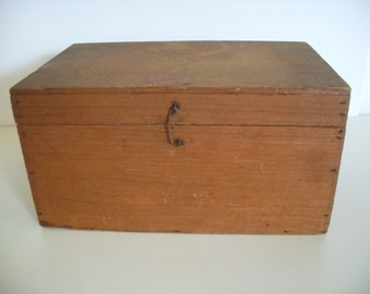 Vintage Antique Small Wood Storage Box