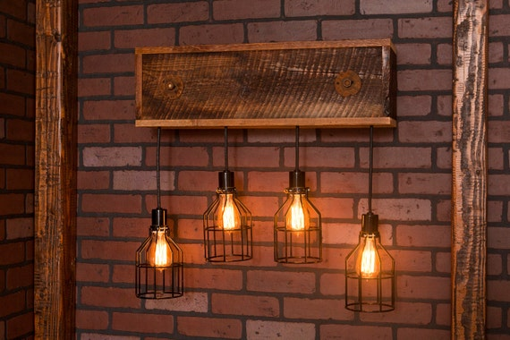 industrial lighting industrial chandelier black with reclaimed wood. Black Bedroom Furniture Sets. Home Design Ideas