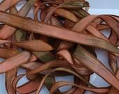 "Desert 42"" hand dyed silk wrist wrap bracelet  ribbon//Yoga wrist wrap bracelet ribbons//Silk wrist wrap ribbon// By Color Kissed Silk"