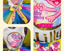 Abby Cadabby Shirt Hot Pink Turquoise Yellow Lavender and White Great for Birthdays, Photos & Props and Parties