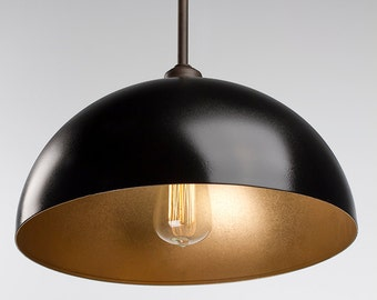 Gold & Oil Rubbed Bronze  - Edison Pendant Light Fixture