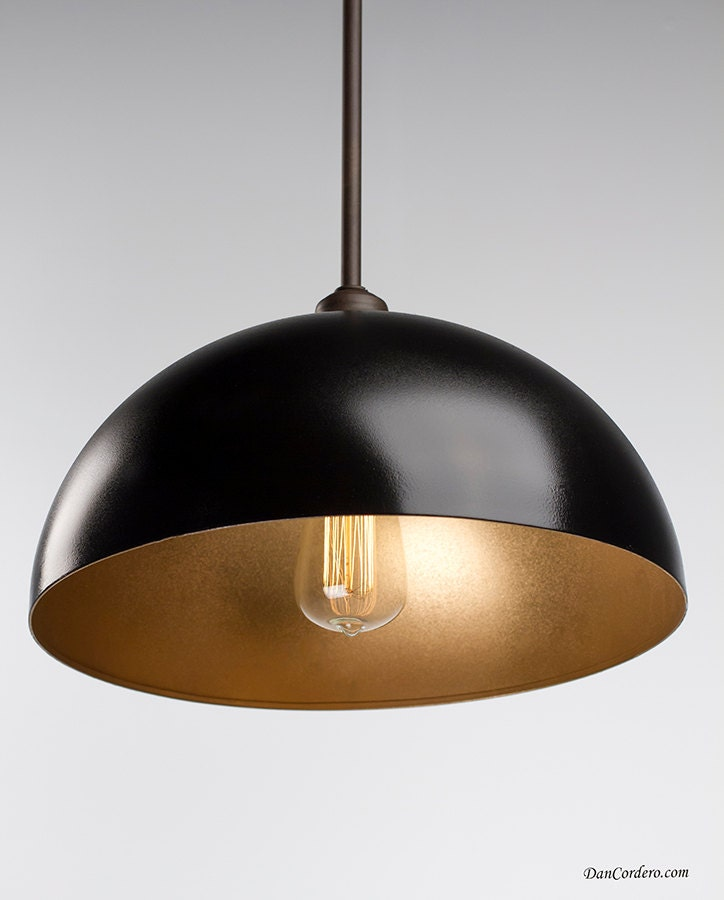 Gold Amp Oil Rubbed Bronze Edison Pendant Light Fixture