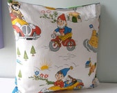 Vintage Noddy Toy Pillow for Nursery Baby Toddler room