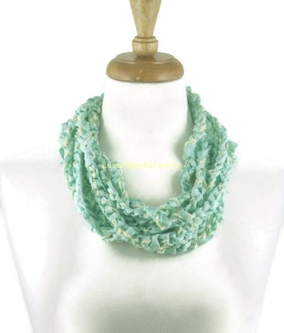 Mint Green Necklace Statement, Green Bib Necklace, Mint Wedding, Wearable Art, Chunky Necklace, Fashion Statement, Crochet Necklace, Jewelry