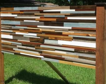 Beautiful King Reclaimed Wood Headboard