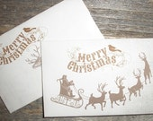 """U Print Rustic Christmas Gift Card Holder Digital Download Envelopes -  Instant Download -  (8.5 """"x 11"""" Sheet)  2 Printable Card Envelopes)"""