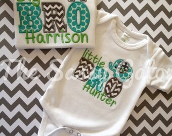 Big Brother Little Brother Set, Matching Brother Shirts, Personalized Sibling Outfits, Sibling Build A Set