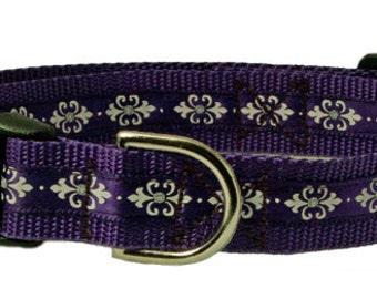 "Sparkle Dog Collar 3/4"" - Purple Dog Collar"