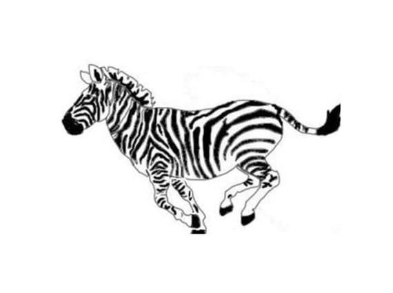 Zebra Streifen Schablone Zebra Wand-schablone