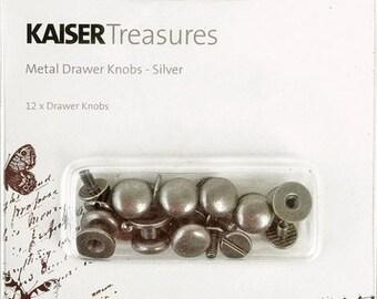 Kaisercraft Treasures Drawer Knobs Silver