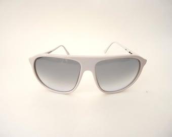 Italian white aviators Vintage Lozza Sunglasses 70s Mens