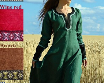 """Medieval Lady Tunic """"Green Fairy"""""""