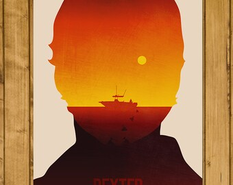 """Dexter - Classic Television Series Poster - Unofficial Illustrated Print - TV Gift (11 x 17"""")"""
