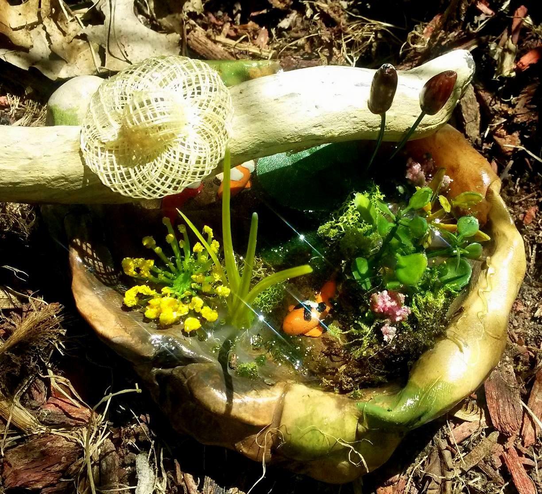 Fairy garden miniature koi pond for Miniature fish pond