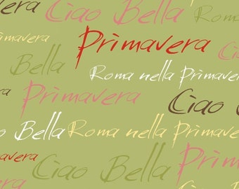 Ciao Bella Words by Another Point of View for Windham Fabrics