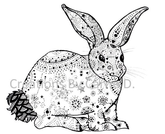 Rabbit Art Rabbit Drawing Black And White By
