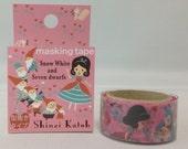 Snow White and Seven Dwarfs Japanese Die Cut Washi Tape Masking Tape Paper Tape Shinzi Katoh Design (SK-MK-011)