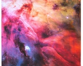 Astronomy Fabric Orion Nebula 17 x 17 inch on Cotton Sateen Fabric