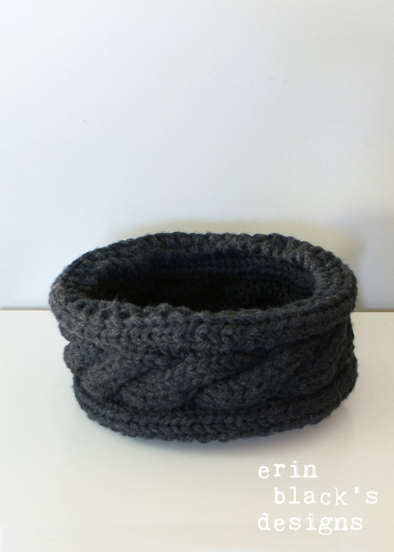 Knitting Inspirations Perth : Diy knitting pattern twisted cable chunky knit basket