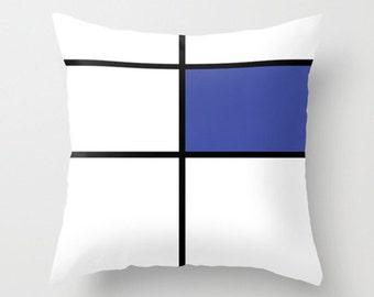 """mondrian, 2, blue, cushions, pillows, throw pillows. 16"""" x 16"""" (40 x 40 cm), 18"""" x 18"""" (45 x 45 cm) or 20"""" x 20"""" (50 x 50 cm)"""