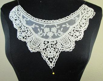 Natural color cotton embroidery flower lace applique