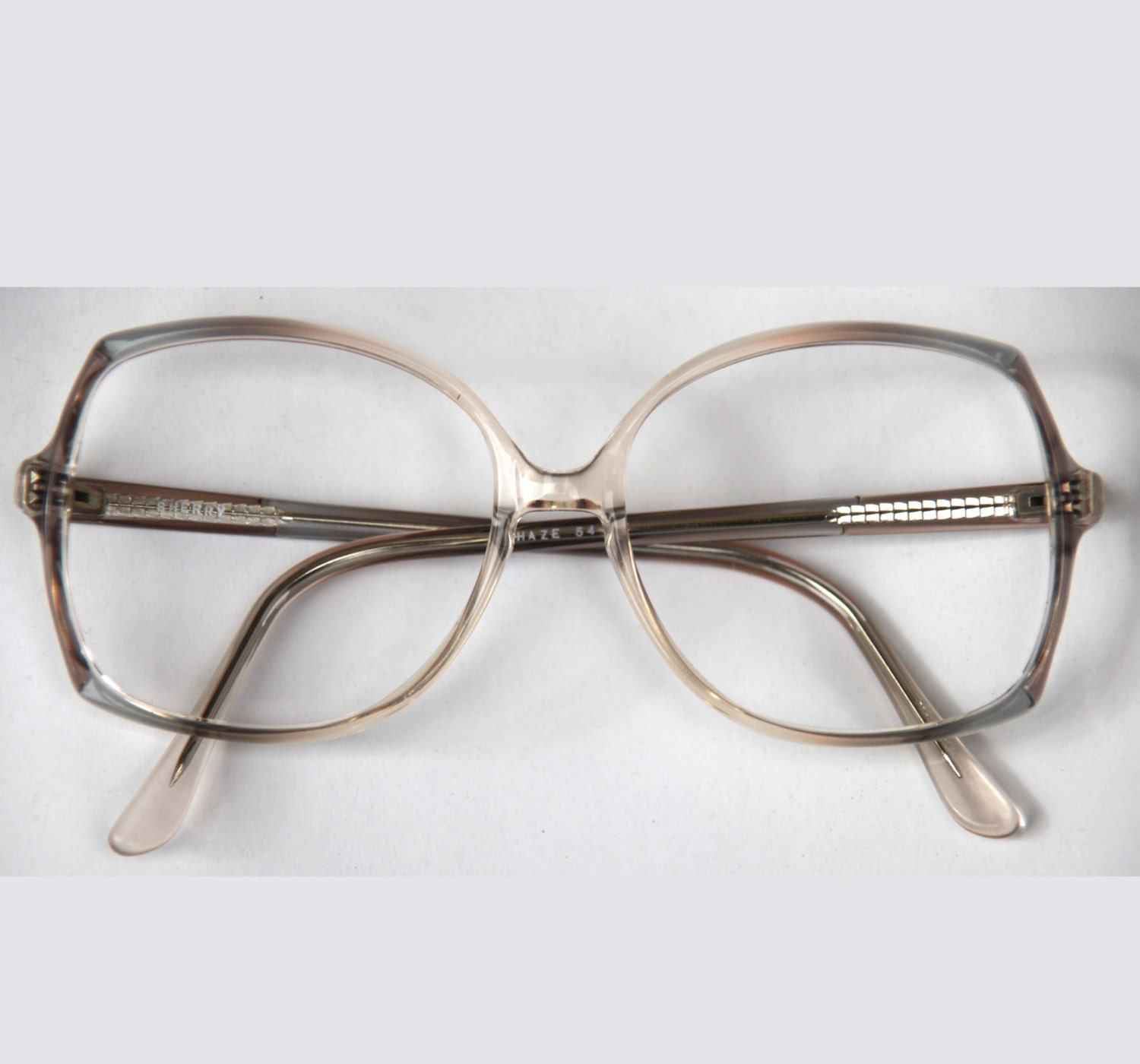 Eyeglass Frame Adjustment Techniques : Vintage 70s KEYHOLE Womens Eye wear Ombre Oversized Avant