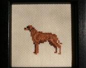 Rhodesian Ridgeback Cross Stitched Full Body Dog.