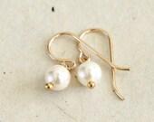 Small Pearl Earrings-June...