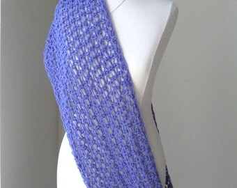 PURPLE SCARF Spring Summer SHAWL Fashion, Crochet, Knit, Gift for Her, Fall, Winter, Handmade Chic Feminine Trendy Mother's Day Gift