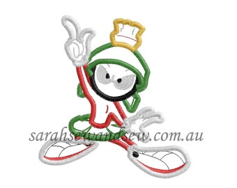 Marvin the Martian Embroidery Design