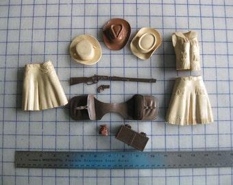 Vintage Marx Johnny West action figure accessories