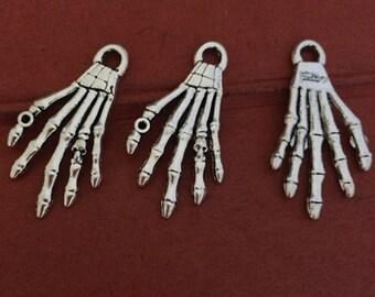 10pcs 35x18mm Antique Silver hand Charm Pendant--  antique silver charm pendant  Jewelry Findings