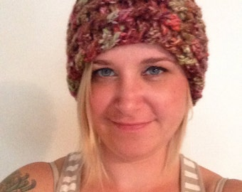 Ivory Tweed Dreadlock Hippie Bohemian Crocheted Headband or Dread Headband by Angiesyarnjungle